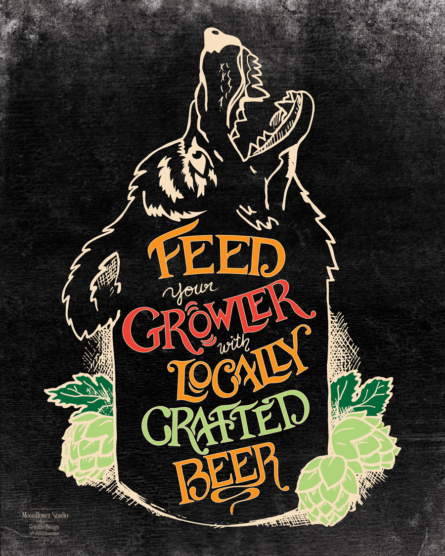 Feed your growler poster